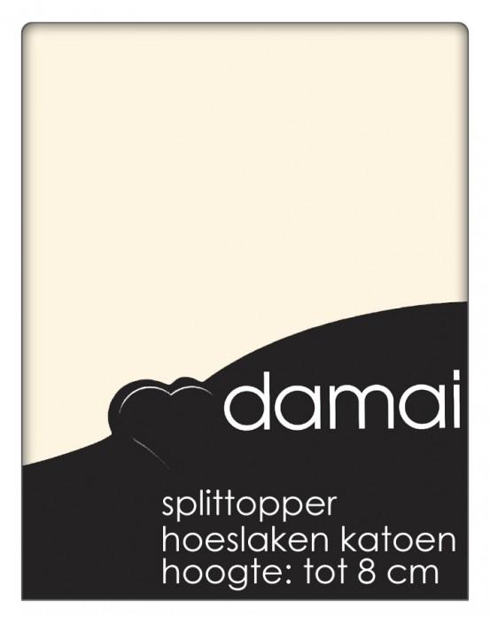 Split topper Hoeslaken Damai Vanille 8 cm (Katoen)