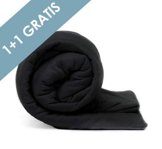 Voordeelpack Jersey Hoeslaken Black 1 + 1 GRATIS