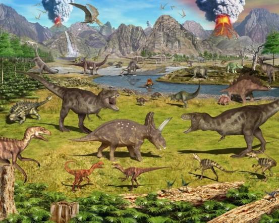 Dinosaurus Fotobehang 3D (Walltastic)