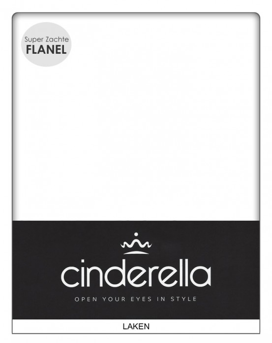 Cinderella Flanellen Lakens Wit