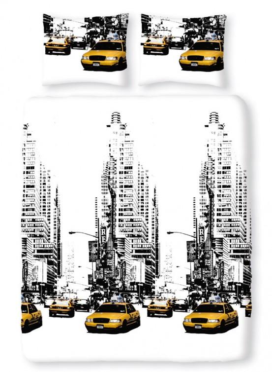 Romanette Dekbedovertrek Yellow Cab