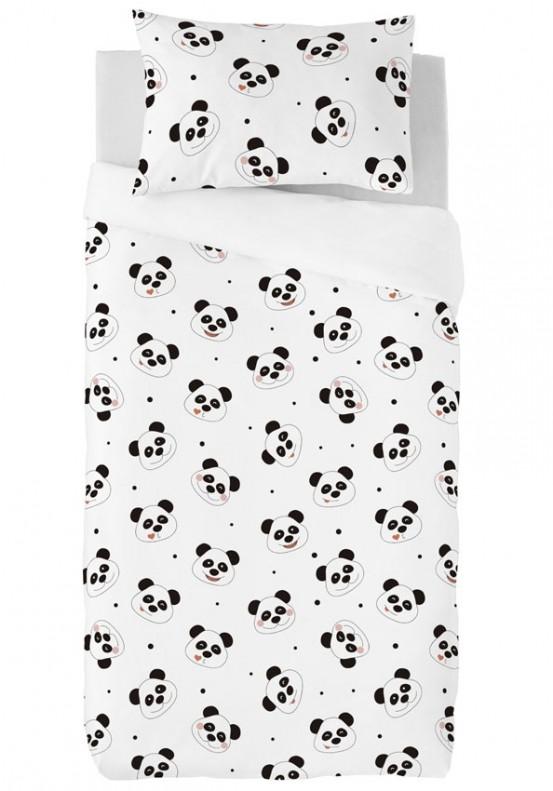 Zavelo Dekbedovertrek Lovely Pandas 100x135cm