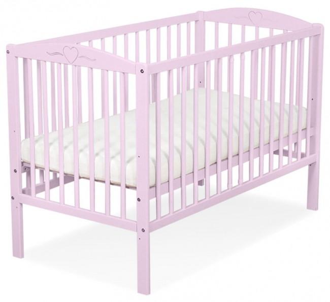 Baby Ledikant Maat.Baby Ledikant Roze Hartje Slaaptextiel Nl