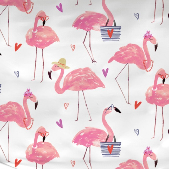 Satin d u0026#39;Or dekbedovertrek Flamingo   Tropisch dekbedovertrek   Satijnen beddengoed