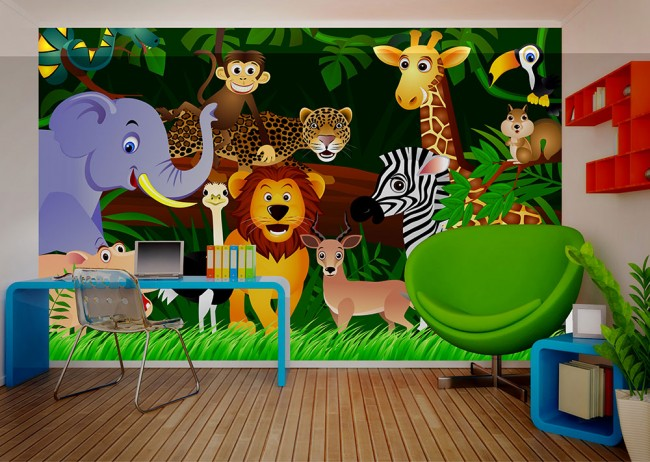 Jungle Thema Slaapkamer : Jungle thema slaapkamer: gave jungle kinderkamer met loopbrug als