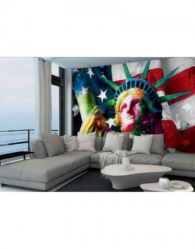 Fotobehang patrice murciano lady liberty 366 cm x 253 cm for Interieur no 253