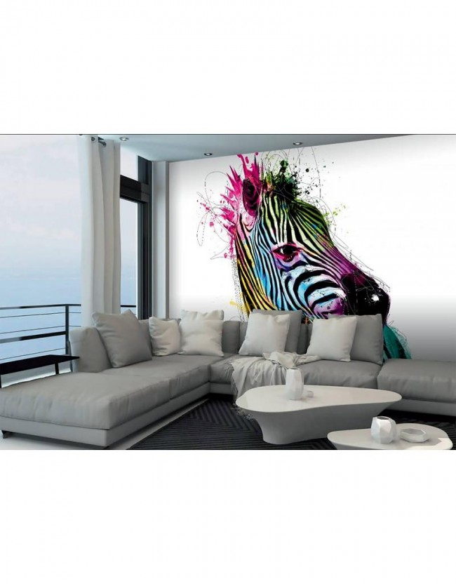 Fotobehang patrice murciano zebra 366 cm x 253 cm for Interieur no 253