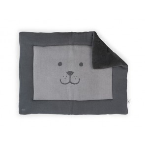 Jollein Boxkleed 80x100cm Natural knit Bear Anthracite