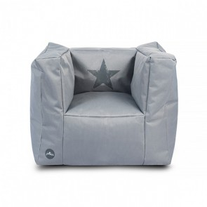 Jollein Fauteuiltje beanbag Faded star grey