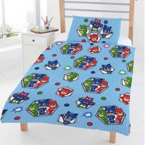 PJ Masks Junior Dekbedovertrek Badges 120 x 150cm