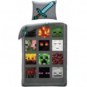 Minecraft Dekbedovertrek Monsters Multi