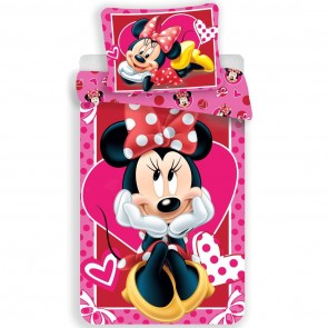 Disney Minnie Mouse Dekbedovertrek Hearts