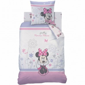 Disney Minnie Mouse Dekbedovertrek Poetic Flowers