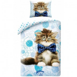 Animal Pictures Dekbedovertrek Bow Tie Kitten