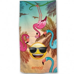 Emoji Flamingo's Strandlaken 70 x 140 cm