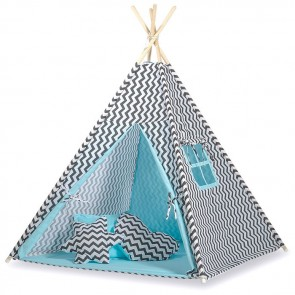 Tipi Speeltent Chevron Black-Blue