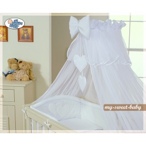 3-delig Bedset Two Hearts Voile Wit