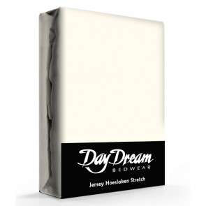 Day Dream Jersey Hoeslaken Ecru-90 x 200 cm