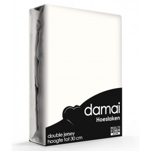 Damai Multiform Double Jersey Hoeslaken Wool White