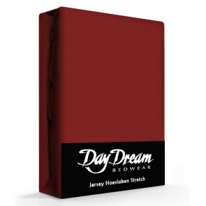 Day Dream Jersey Hoeslaken Bordeaux-90 x 200 cm