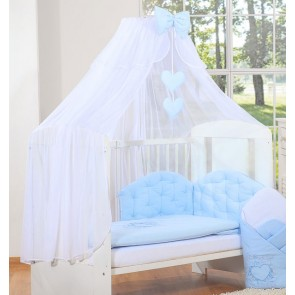 3-Delig Bedset Chic Voile Blauw