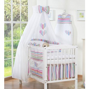 3-Delig Bedset Two Hearts Katoen Multi