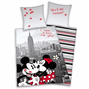 Teen World Dekbedovertrek Mickey & Minnie Mouse New York