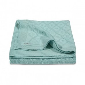 Jollein Deken 75x100cm Diamond knit vintage green