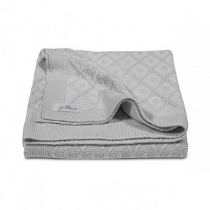 Jollein Deken 100x150cm Diamond knit grey