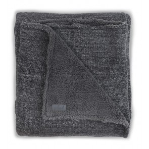 Jollein Deken 100x150cm Natural knit Anthracite/Teddy