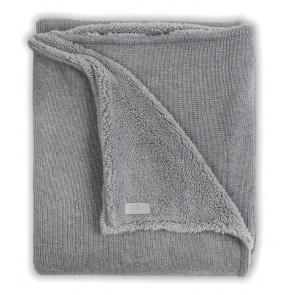 Jollein Deken 100x150cm Natural knit Grey/Teddy