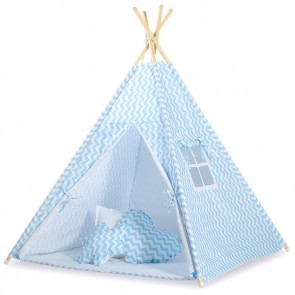 Tipi Speeltent Chevron Blue