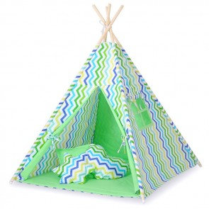 Tipi Speeltent Chevron Green-Blue