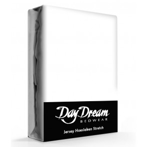 Day Dream Jersey Hoeslaken Wit-90 x 200 cm