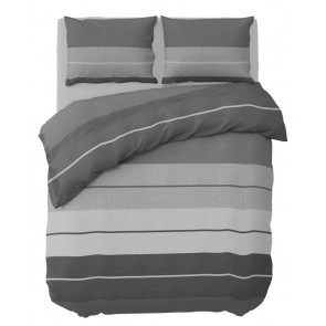 Pierre Cardin Dekbedovertrek Striped Linen Grey