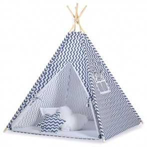 Tipi Speeltent Chevron Dark Blue