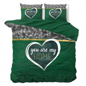 Dreamhouse Dekbedovertrek You Are My Home Green