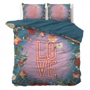 Dreamhouse Dekbedovertrek Led Love Turquoise