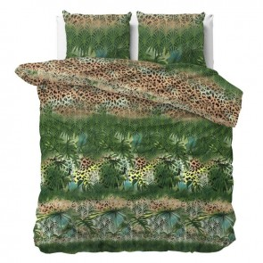Sleeptime Dekbedovertrek Trendy Jungle Green