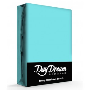 Day Dream Jersey Hoeslaken Aqua-90 x 200 cm