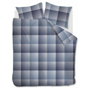 Beddinghouse Dekbedovertrek Flanel Graham Blue