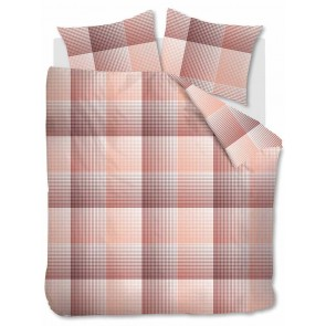 Beddinghouse Dekbedovertrek Flanel Graham Coral