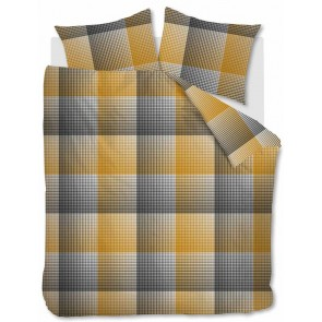 Beddinghouse Dekbedovertrek Flanel Graham Ocre