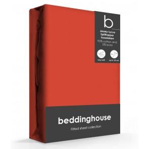 Beddinghouse Splittopper Hoeslaken Jersey Koraal Rood