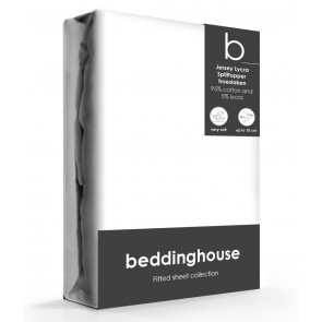 Beddinghouse Splittopper Hoeslaken Jersey Wit
