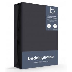 Beddinghouse Jersey-Lycra Topper Hoeslaken Antraciet