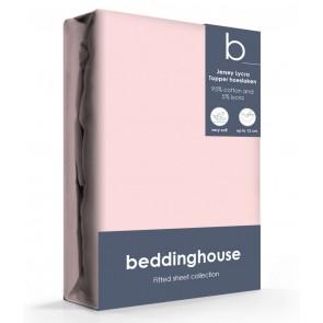 Beddinghouse Jersey-Lycra Topper Hoeslaken Koraal Lichtroze
