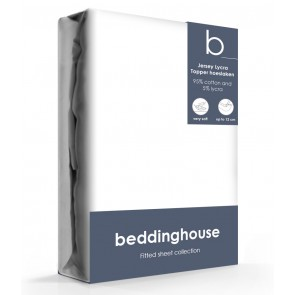 Beddinghouse Jersey-Lycra Topper Hoeslaken White