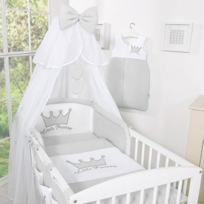 Bedset 3-Delig Little Prince/Princess Voile Grijs