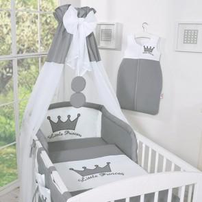 Bedset 3-Delig Little Prince/Princess Voile/Katoen Antraciet